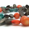 Collier femmes bijoux kayou en pierres de Turquoise, bois et Gorgone