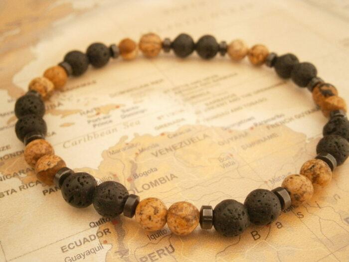 Bracelet pour homme en pierres