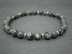 Bracelet pour homme Larvikite et hématite