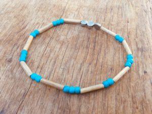 bracelet homme fin et léger en bois
