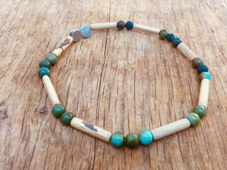 Bracelet homme pierres et bois