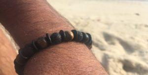 bracelet porté lave et œil de tigre