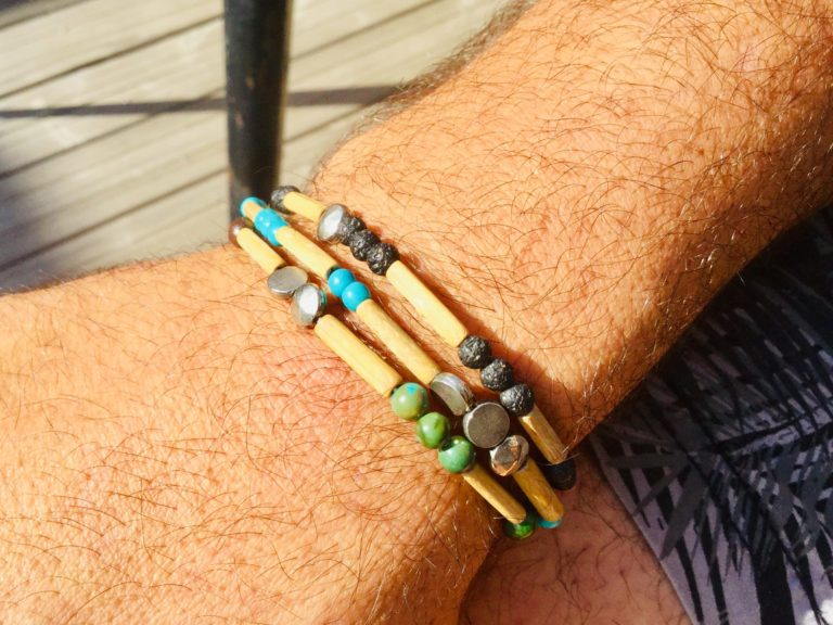 Bracelets mix Bambou et pierres