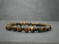 Bracelet pour homme oeil de tigre et hématite noire