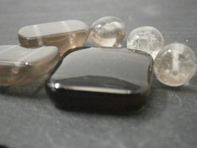 bijoux artisanaux en quartz fumé