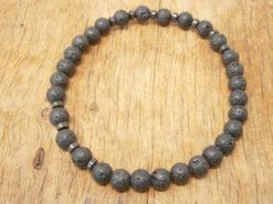 Bracelet Pierre de lave et hématite noire naturelle