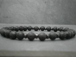 Bracelet en pierres de lave pour femme et homme petites pierres