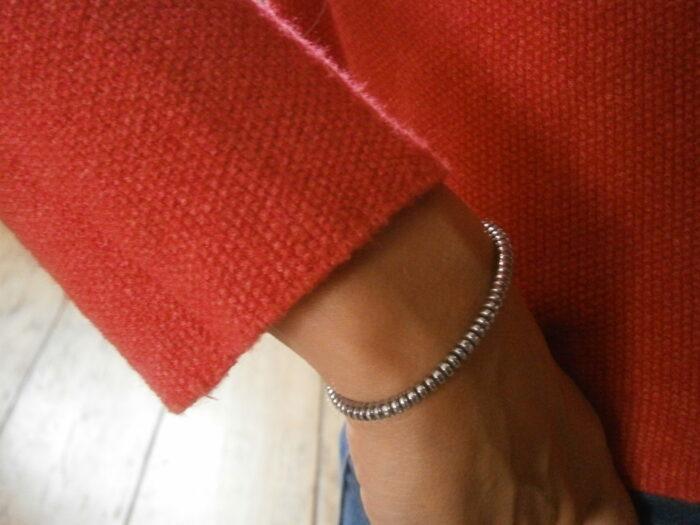 Bracelet pour femme et homme en pierres d'hématite naturelle